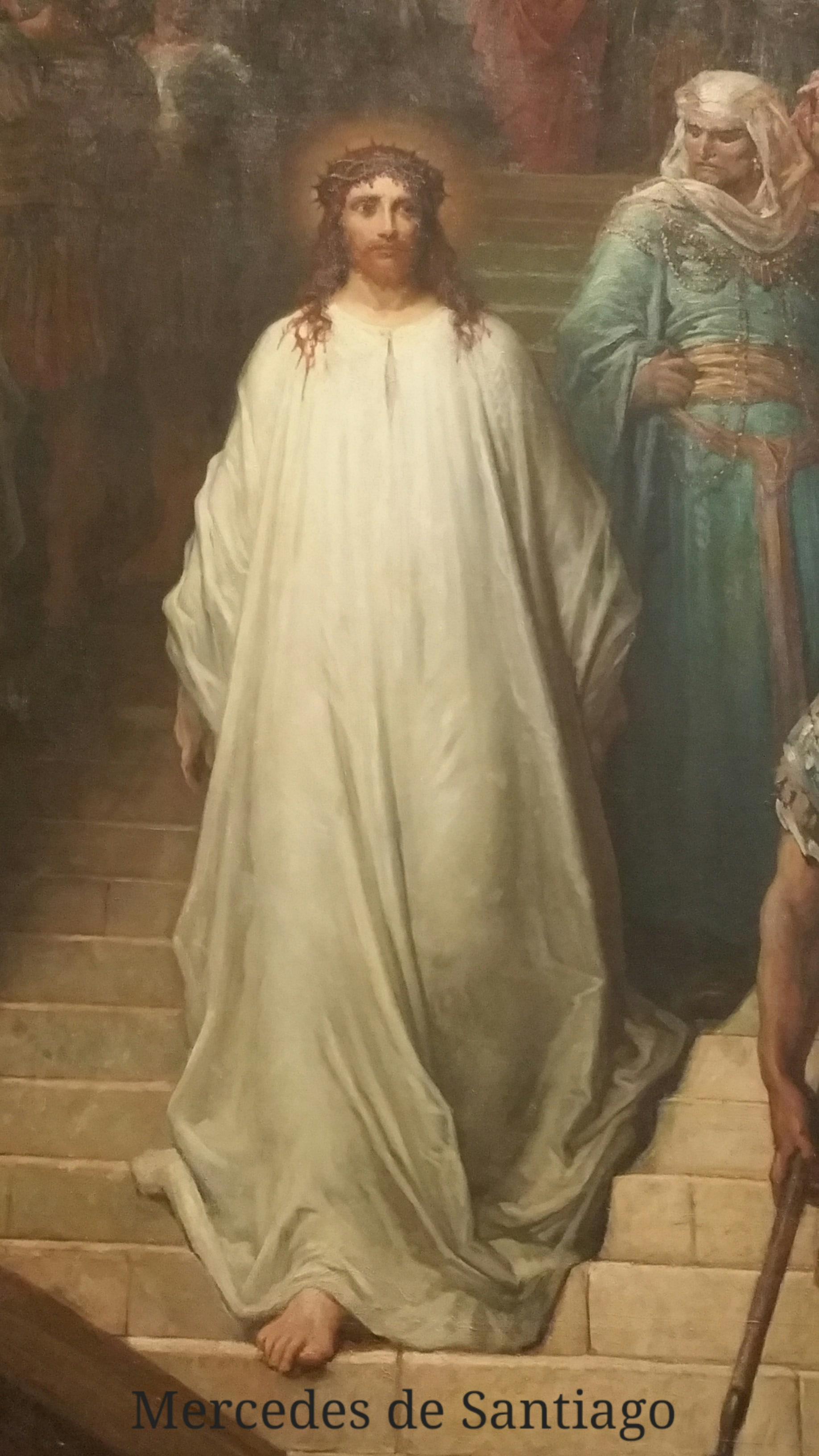 Cristo bajando del pretorio detalle