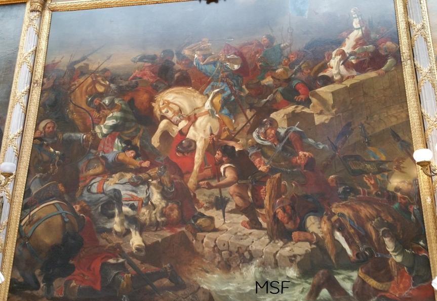 Batalla de Taillebourg por Delacroix Versalles