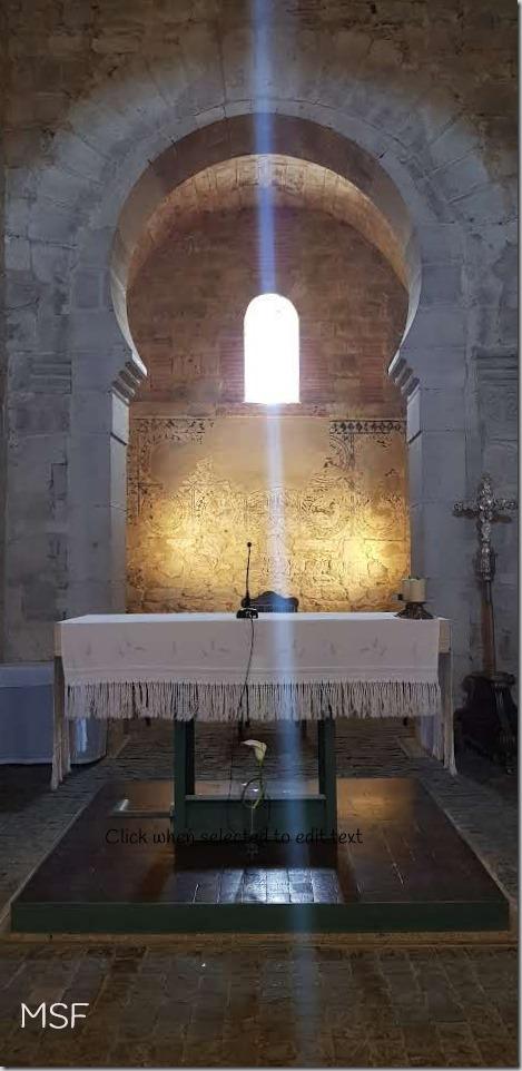 Santa María de Wamba Valladolid altar mayor