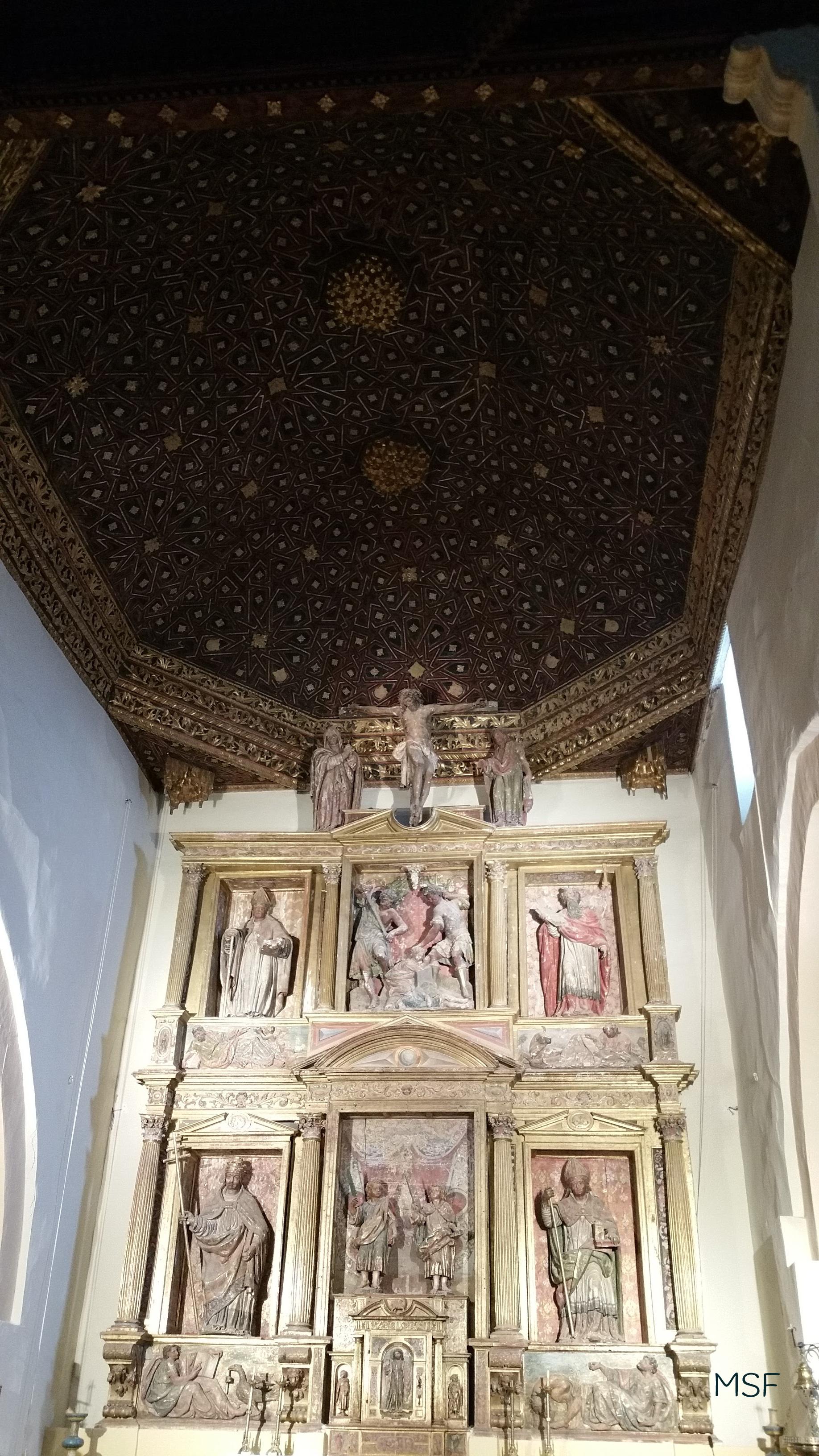 Retablo Mayor Iglesia de los Santos Justo y Pastor Cuenca de Campos